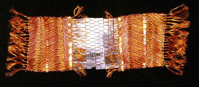 Beach Scrapbook_LaMar woven wire and metal sculptural wall hanging by Susan McGehee