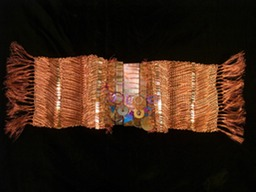 Charade, woven wire and metal sculptural wall hanging