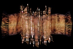 Copper Tangent woven wire and metal sculptural wall hanging by Susan McGehee