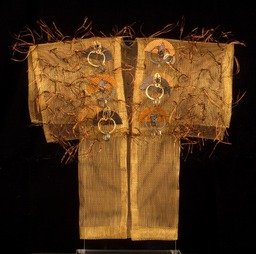 Paragon Kimono, bronze screen embellished with found items.