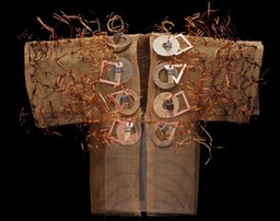 Prelude Kimono, bronze screen embellished with found items.