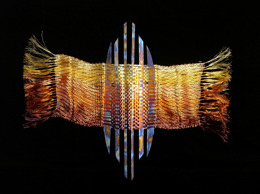 Sentinel. woven copper coated wire with recycled titanium inserts.